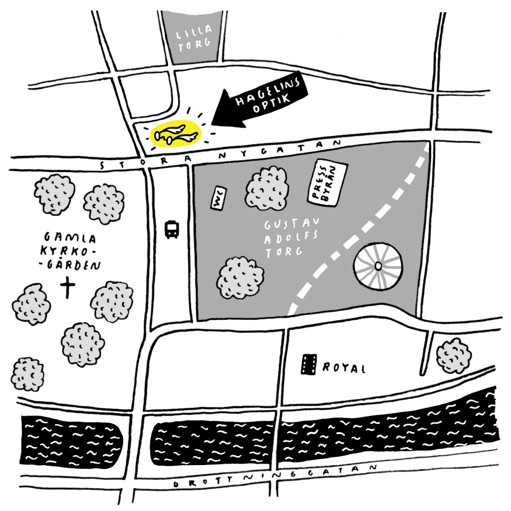 Optiker Malmö karta