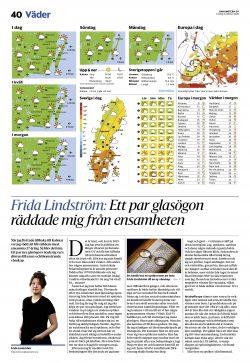 Frida Lindström: Ett par glasögon räddade mig från ensamheten